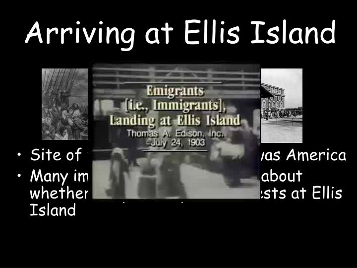 Arriving at Ellis Island