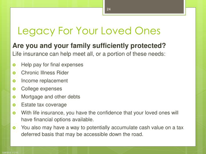 Legacy For Your Loved Ones
