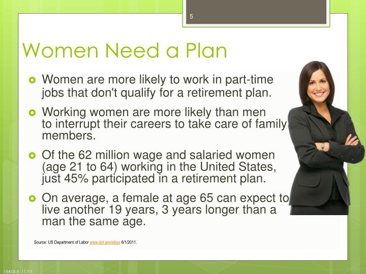 Women Need a Plan