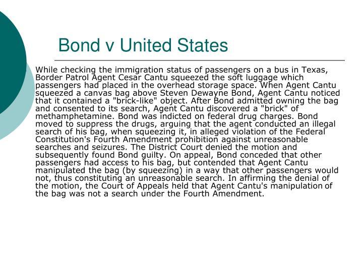 Bond v United States