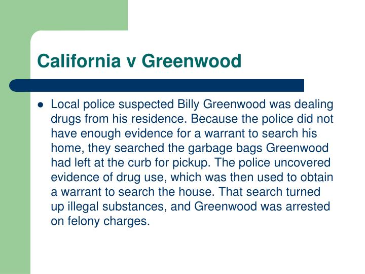 California v Greenwood