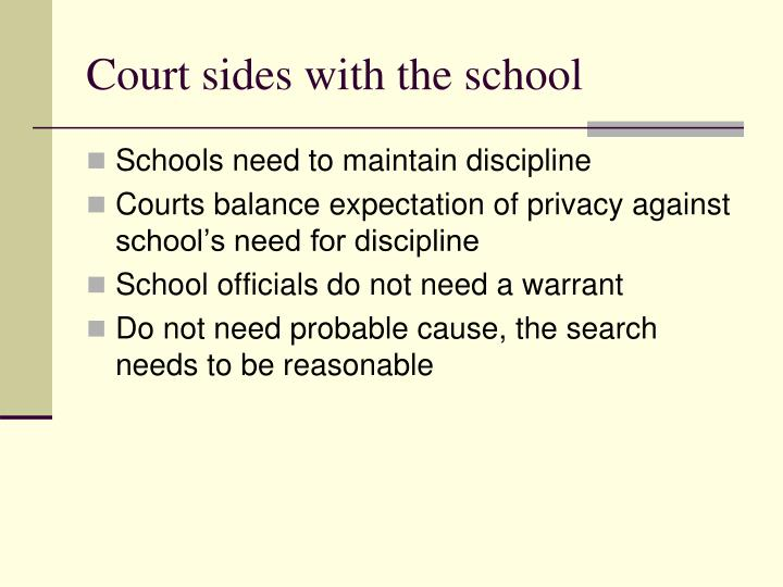 Court sides with the school