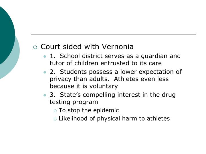 Court sided with Vernonia
