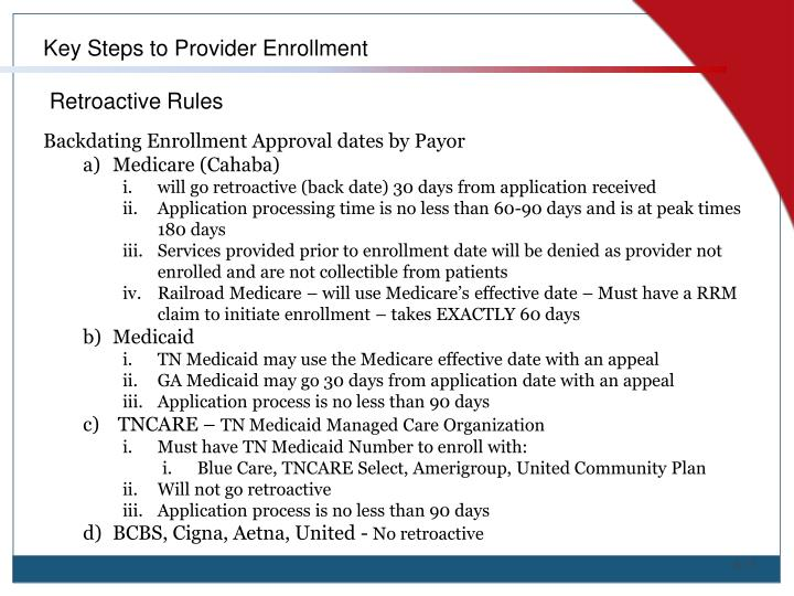 Key Steps to Provider Enrollment