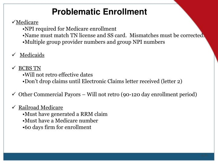 Problematic Enrollment