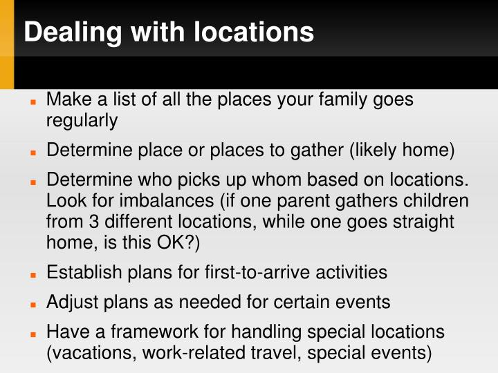 Dealing with locations