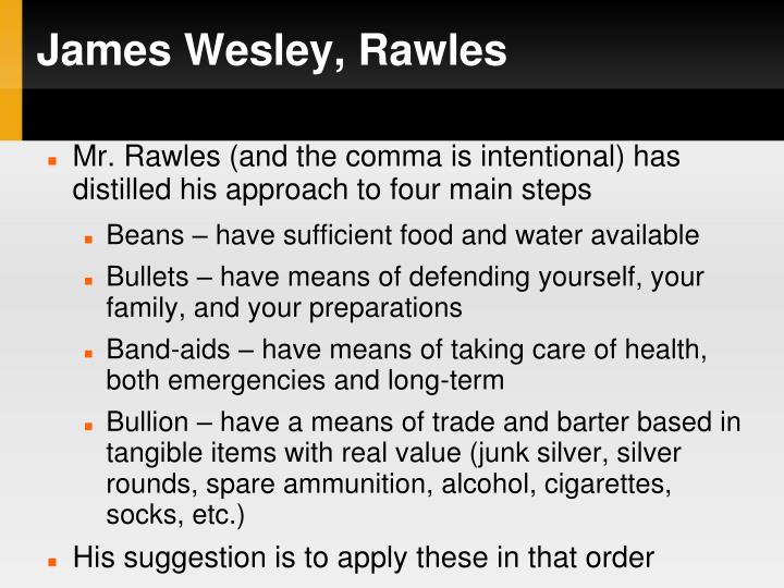 James Wesley, Rawles