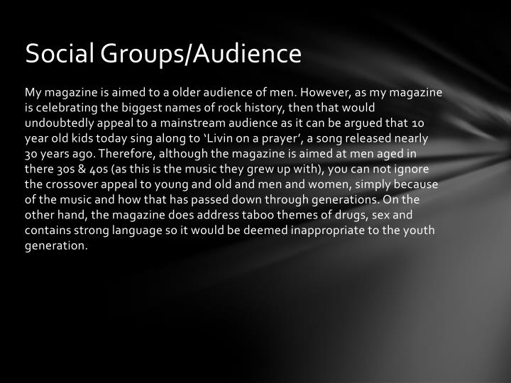 Social Groups/Audience