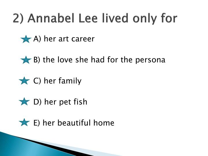 2) Annabel Lee lived only for