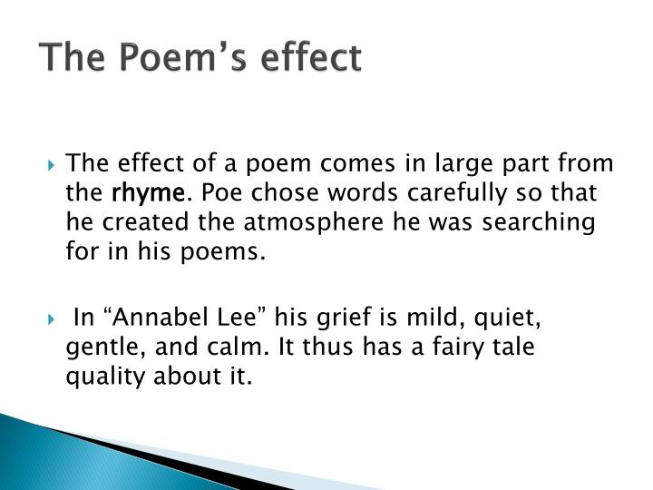The Poem's effect