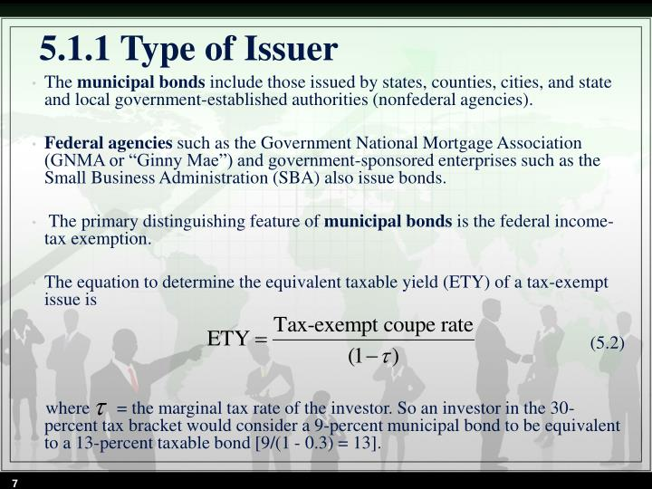 5.1.1 Type of Issuer