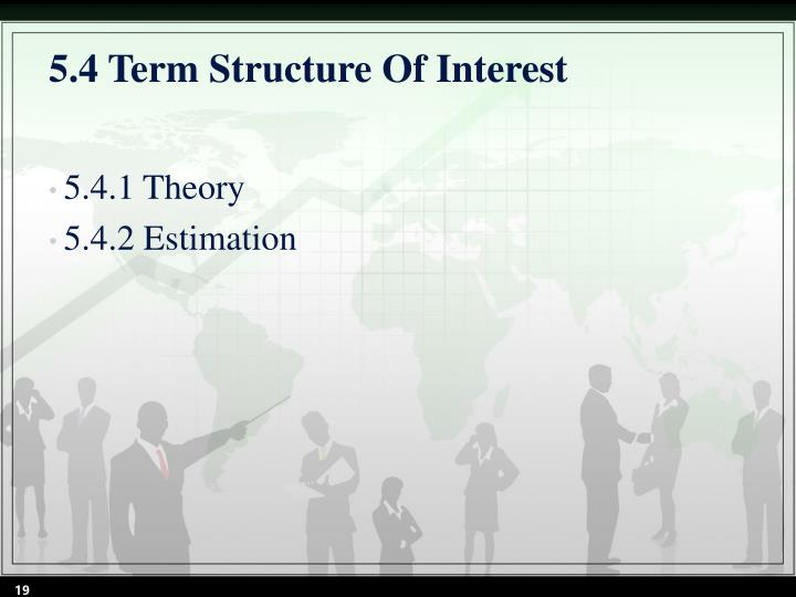 5.4 Term Structure Of Interest