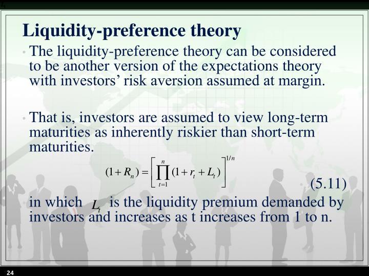 Liquidity-preference theory