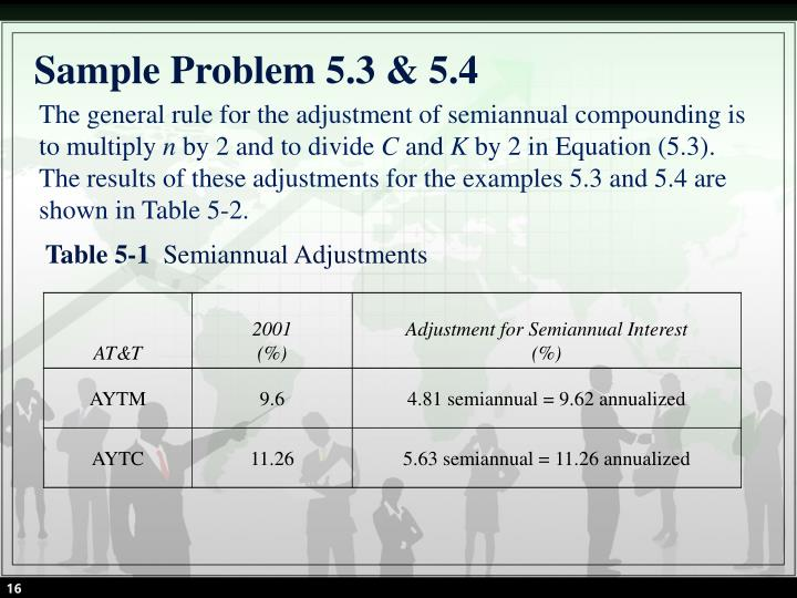 Sample Problem 5.3 & 5.4