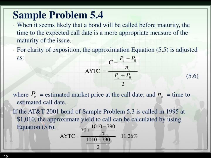 Sample Problem 5.4