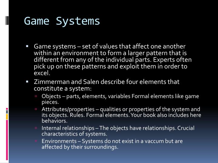 Game Systems