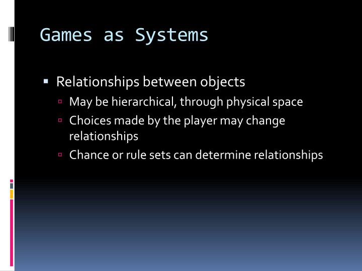 Games as Systems