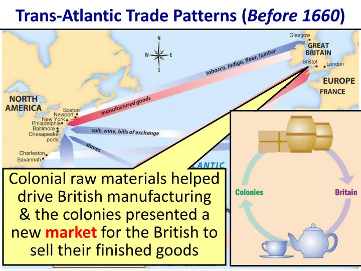 trans atlantic trade british mercantilism Read on to learn about the effects of british mercantilism on the economy  the  resulting favorable balance of trade was thought to increase.