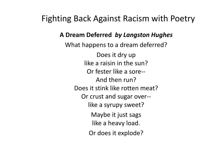 Fighting Back Against Racism with Poetry