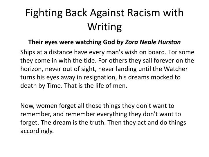 Fighting Back Against Racism with Writing