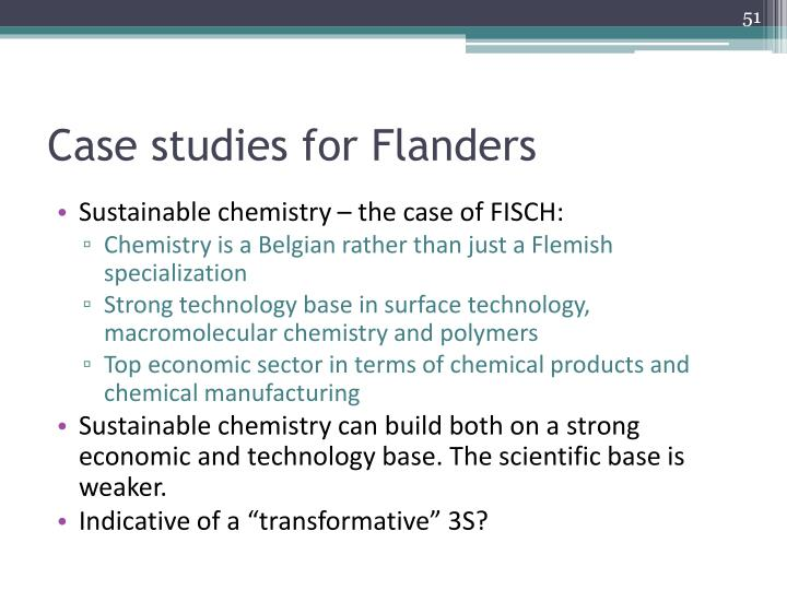 Case studies for Flanders