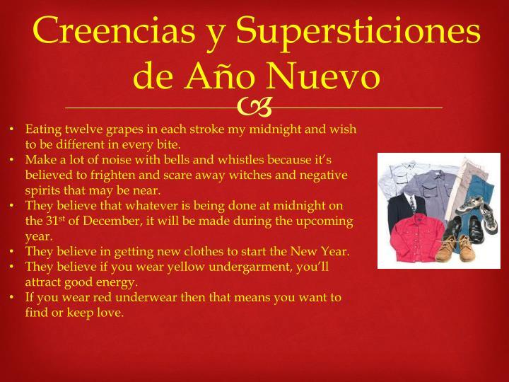 Creencias y Supersticiones de Año Nuevo