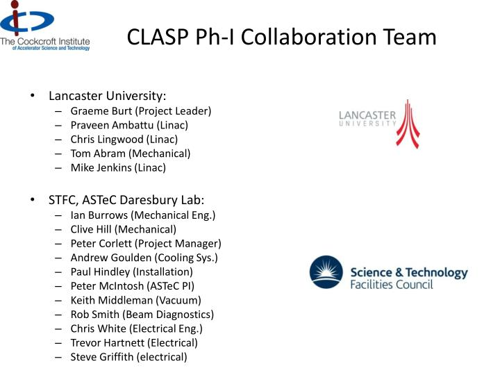 Clasp ph i collaboration team