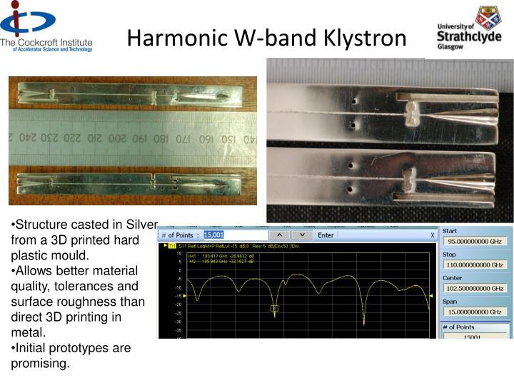 Harmonic W-band Klystron