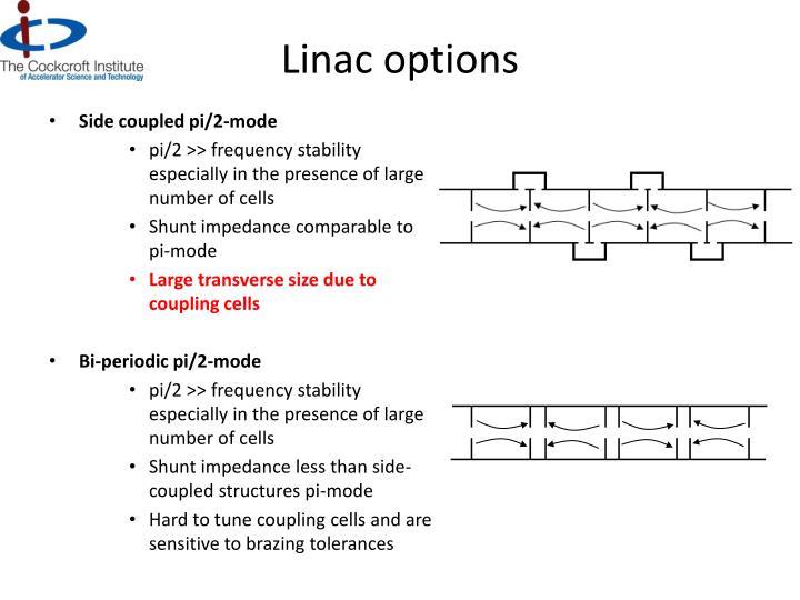 Linac options