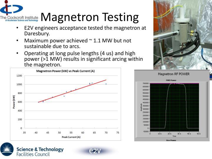 Magnetron Testing