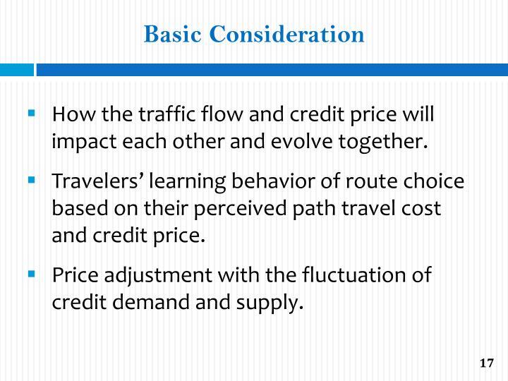 Basic Consideration