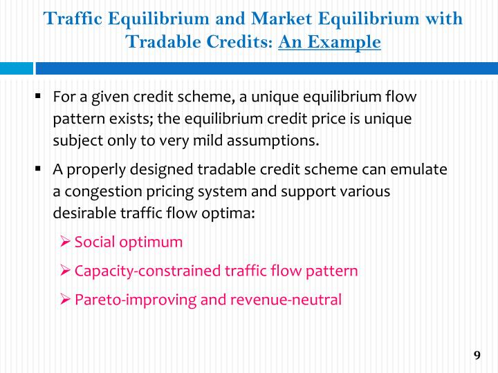 Traffic Equilibrium and Market Equilibrium with Tradable Credits: