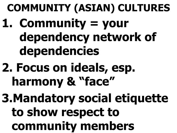 COMMUNITY (ASIAN) CULTURES