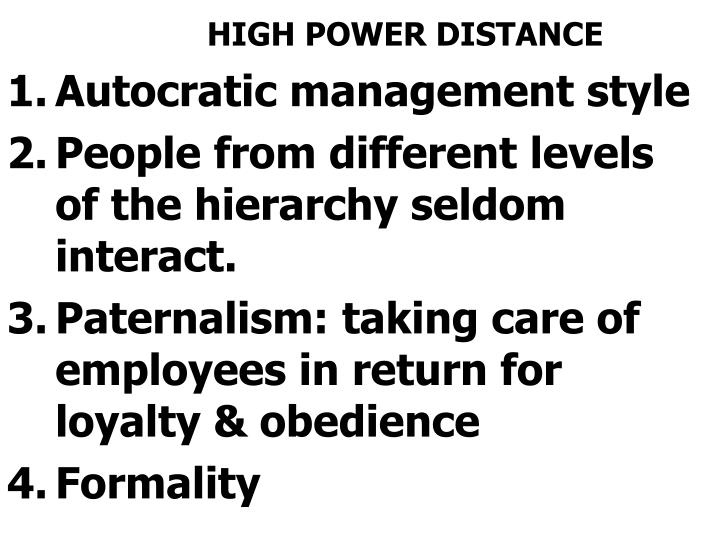 HIGH POWER DISTANCE