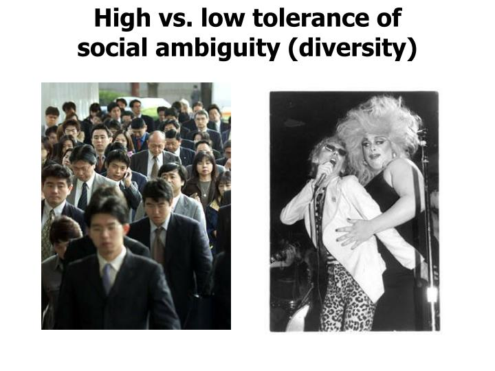 High vs. low tolerance of