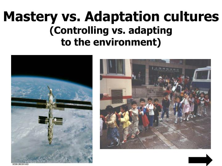 Mastery vs. Adaptation cultures