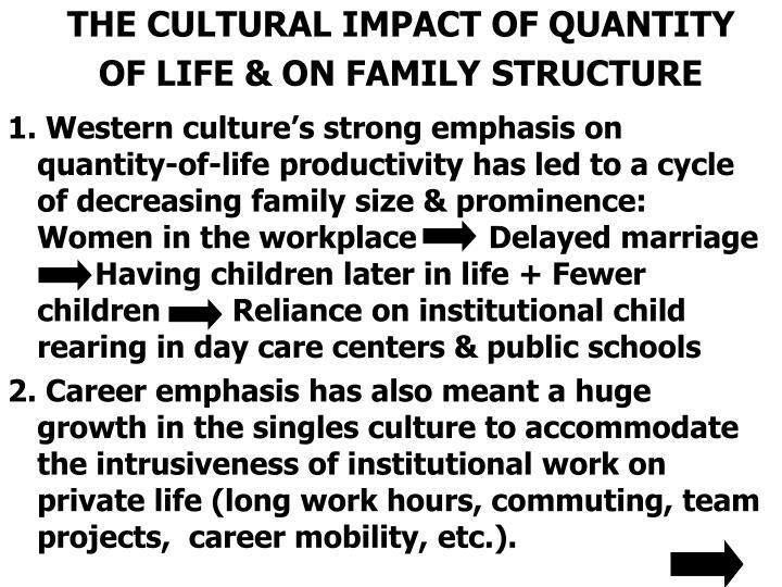 THE CULTURAL IMPACT OF QUANTITY