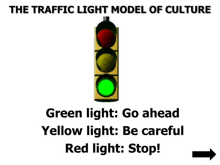 THE TRAFFIC LIGHT MODEL OF CULTURE