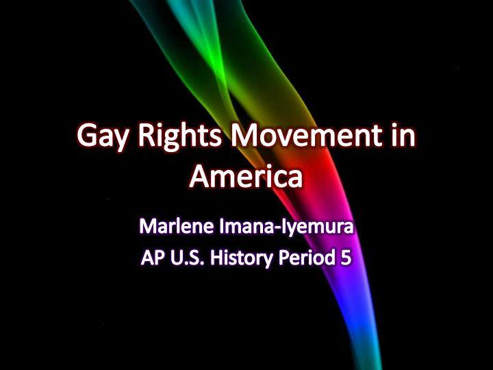 Gay rights movement in america