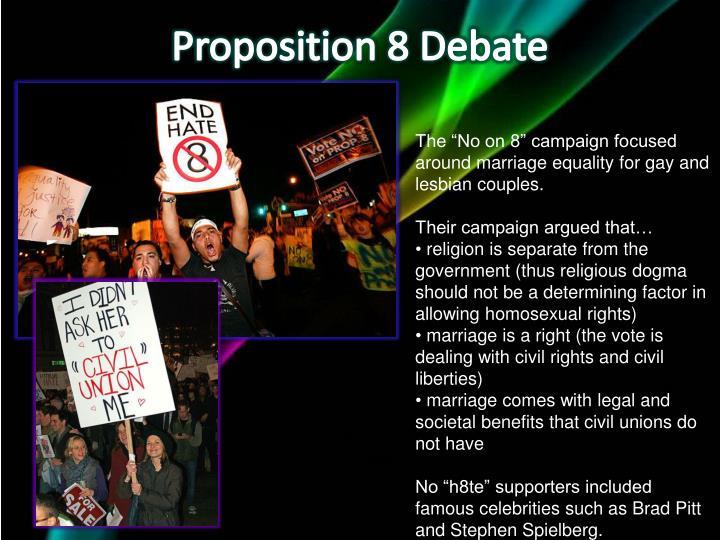 Proposition 8 Debate