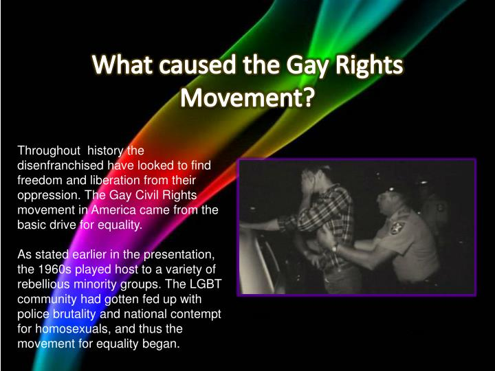 What caused the Gay Rights Movement?