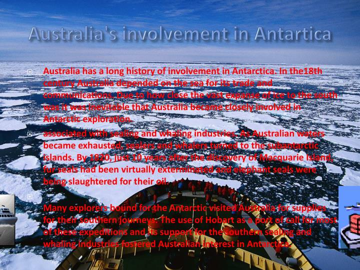 Australia's involvement in