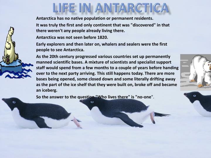 Life in Antarctica