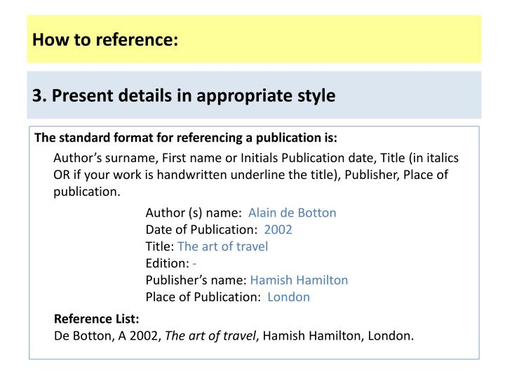 How to reference: