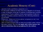academic honesty cont