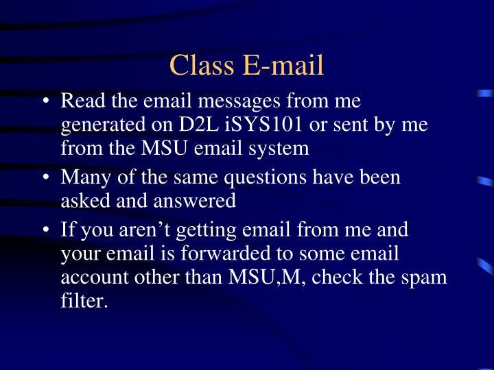 Class E-mail