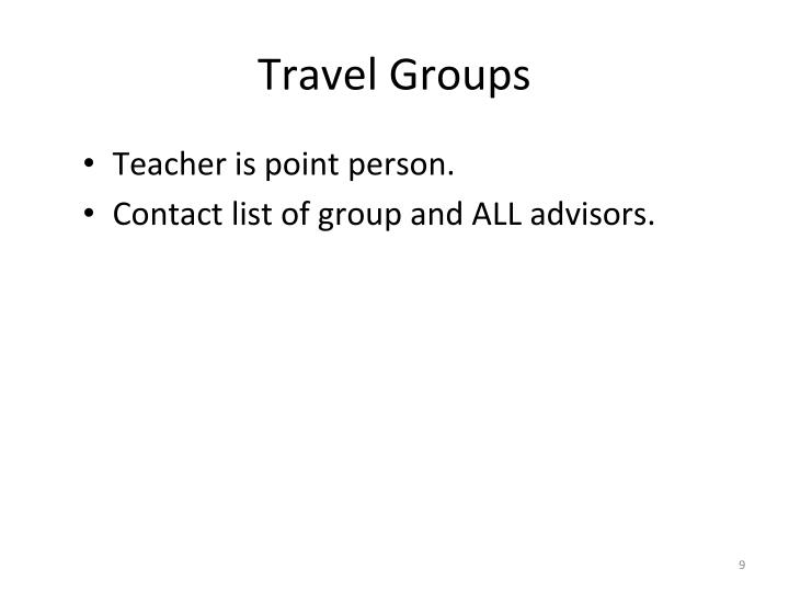 Travel Groups