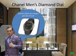 chanel men s diamond dial