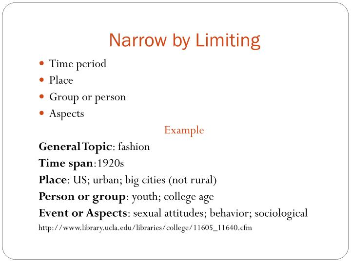 Narrow by Limiting