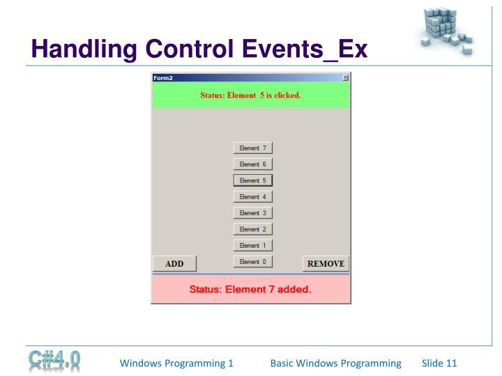 Handling Control